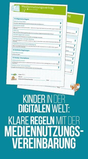 Kinder in der digitalen Welt: Der Mediennutzungsvertrag