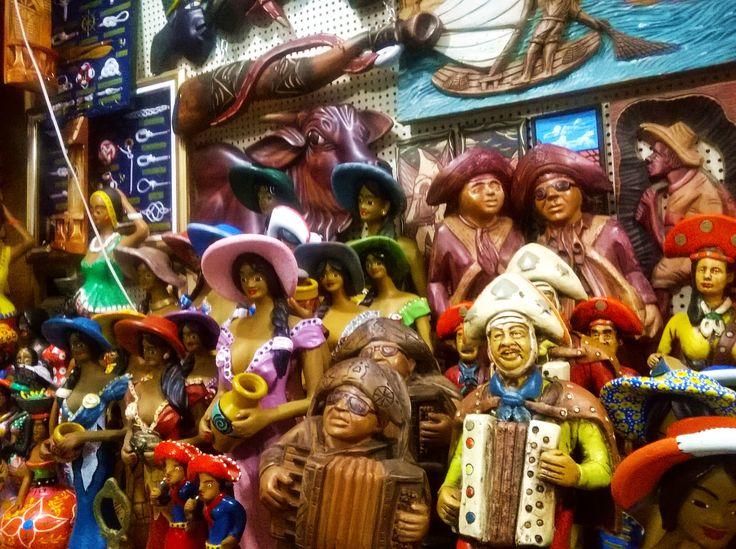 Escultura em argila - mercado cearense