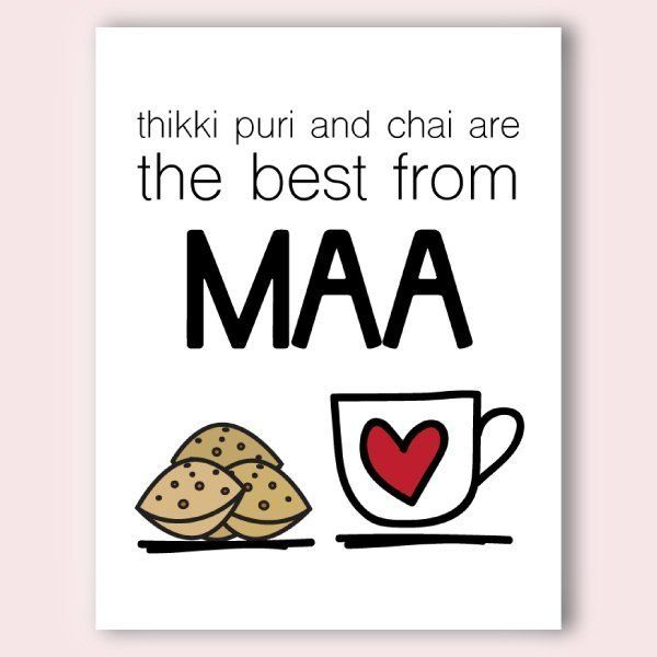 60th Birthday Gift Ideas For Mom India Maa S Thikki Puri Chai Birthday Cards For Mother Mother Card Grandmothers Card