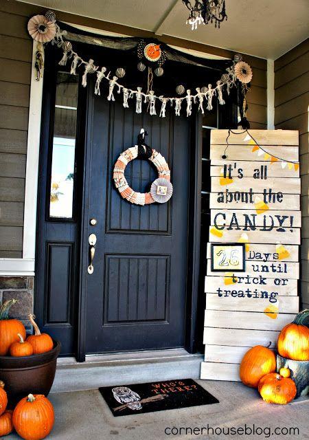 18 Best Halloween Front Door Display Images On Pinterest