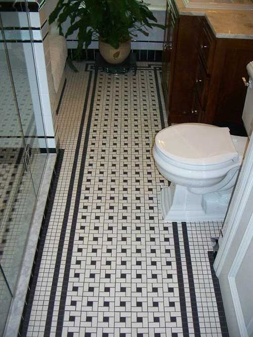 Black And White Retro Bathrooms 87 best black and white tile patterns for vintage bath images on