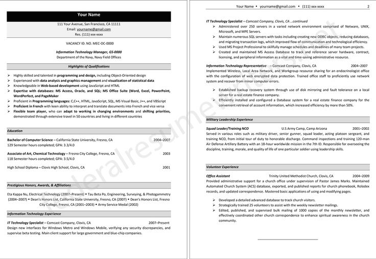 8 best Federal Resume Writers images on Pinterest | Federal resume ...