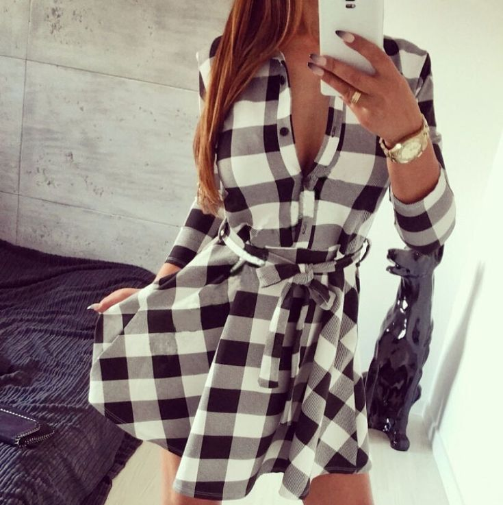 Charms Diesel Checked Dress Dresses Shop Womens Dresses COLOUR-multi check