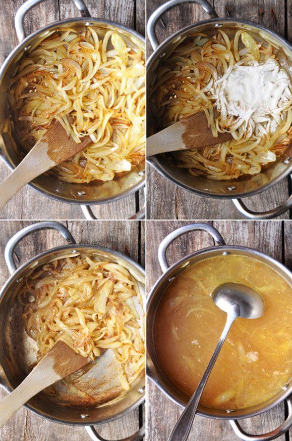 Soupe l 39 oignon recette facile cuisine soupes recette soupe et oignon - Soupe a oignon maison ...