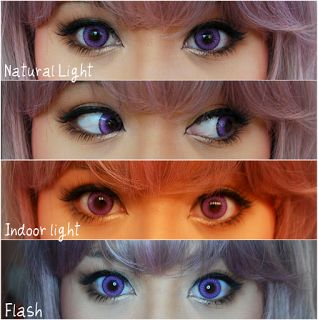 My Darling Rainbow: Fay 3 Tone Violet, EOS Circle Lenses [Sponsored]