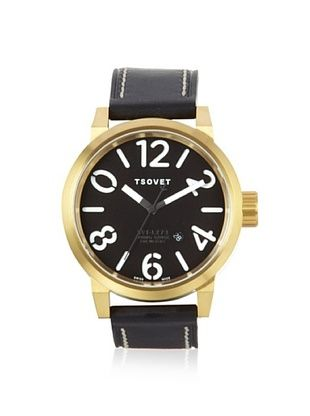 56% OFF Tsovet Men's LX441010-01 Aero Black/Gold Stainless Steel Watch