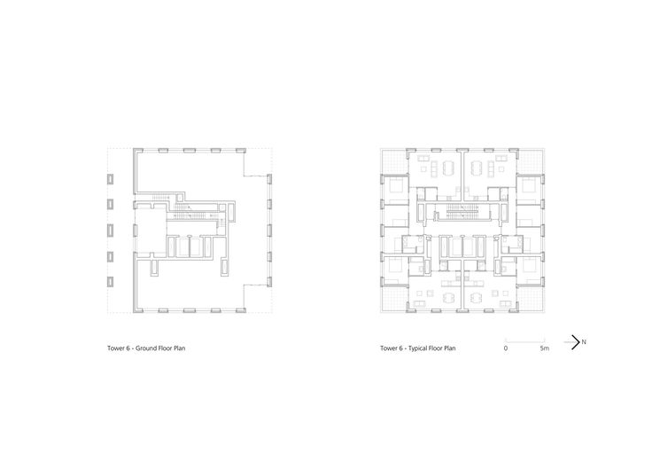 Image 21 of 26 from gallery of Westkaai Towers 5 & 6 / Tony Fretton Architects. Floor Plans