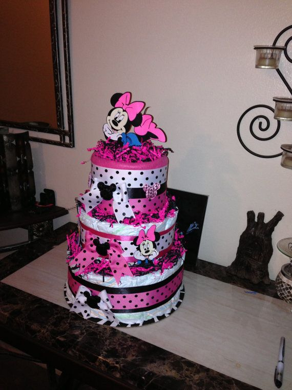 Minnie Mouse Diaper Cake / Disney Diaper Cake Minnie Mouse   Etsy