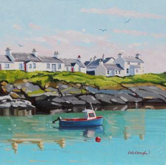 Scottish Artist Frank COLCLOUGH - Midsummer - Portnahavan