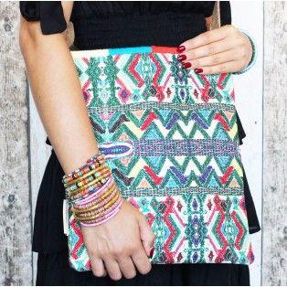 Aztec - shopper - blauw