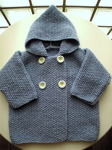 Seed Stitch Baby Jacket By Elinor Brown - Free Knitted Pattern - (ravelry)