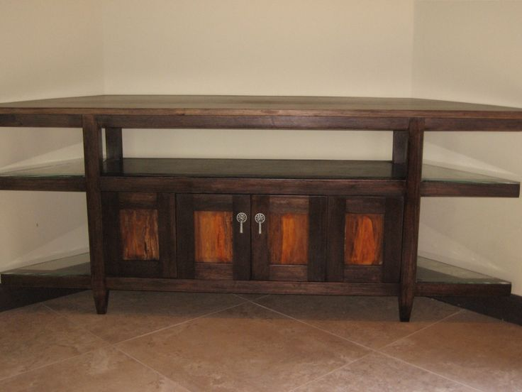 Stained anonillo and rosewood tv stand