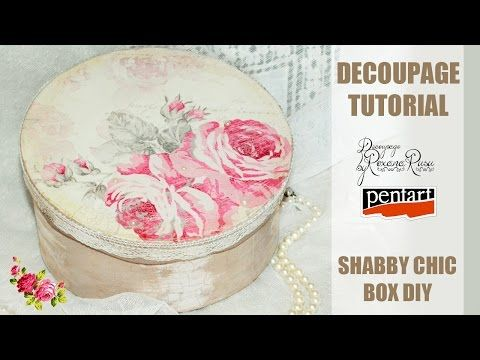 How to decoupage a shabby chic box - Découpage tutorial - YouTube