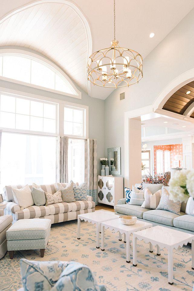 "Inspiring Family Home Interiors - ""Family Room Paint Color"" (Benjamin Moore Picnic Basket CSP-730)"
