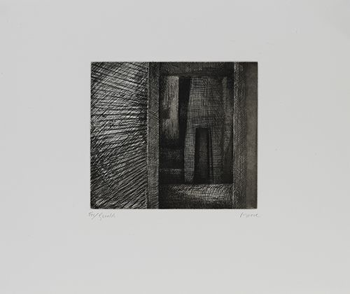 Henry Moore, 'Architecture Doorway' Etching, aquatint, drypoint and soft ground etching, 1972.