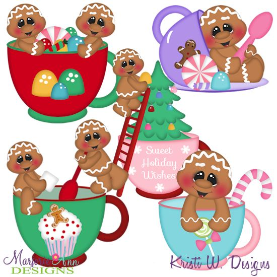 Christmas Tea Gingers~SVG-MTC-PNG plus JPG Cut Out Sheet(s) Our sets also include clipart in these formats: PNG & JPG