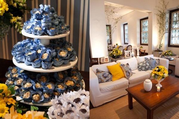 Amarelo + Azul e toques de verdes. Paleta de cores linda. Casamento inspiração: Casamento Amarelo, Color, Blue Decoration, Wedding, Casamento Inspiração, Cooking, Decoração Amarela, Blue Wedding