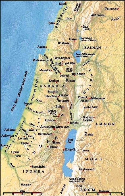 map of judah today