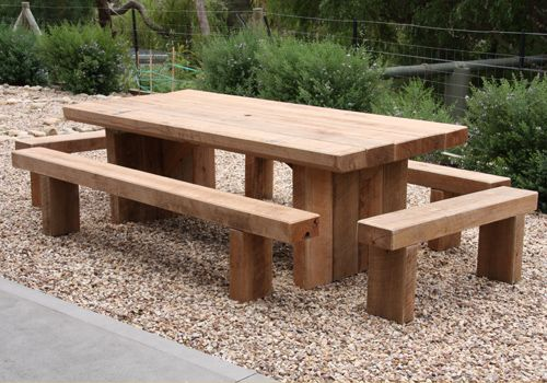 Diy Railroad Tie Round Dining Table