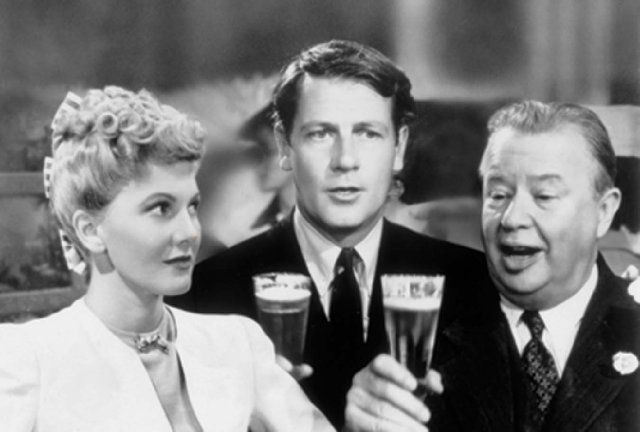 "Jean Arthur, Joel McCrea & Charles Coburn in ""The More the Merrier""...One of our favorite movies! Charles Coburn is great. We love him...such a charming gentleman."