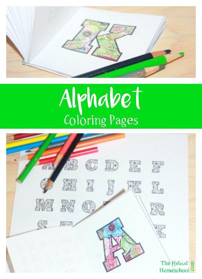 Kids' Alphabet Coloring Pages http://www.memoi.com/