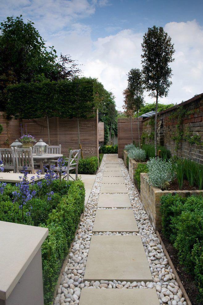 rectangular garden landscape traditional with contemporary ... on Rectangular Backyard Design id=73839