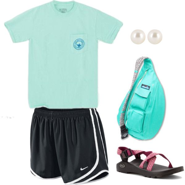 OOTD by prestobowsandkeys on Polyvore featuring polyvore, fashion, style, NIKE, Chaco, Kavu and Henri Bendel