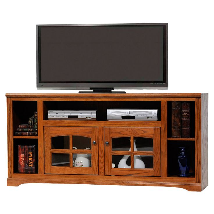 American Heartland 66 in. Oak TV Stand with Open Shelf - Assorted Finishes - #93865LT