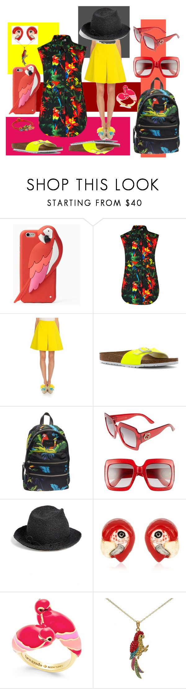 """""""Untitled #1236"""" by moestesoh ❤ liked on Polyvore featuring Kate Spade, Love Moschino, Delpozo, Birkenstock, Marc Jacobs, Gucci, Helen Kaminski, Nach and Tory Burch"""