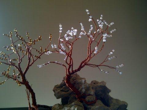 ▶ AQL.COMO HACER arbol de alambre con abalorios - YouTube
