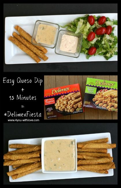 In just 15 minutes, you can have a #DelimexFiesta with my super easy queso dip recipe!  #ad