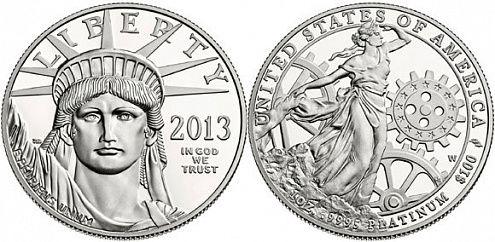 Платиновая монета серии «Американский орел» (2013)
