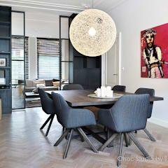 eetkamer stadswoning: moderne Eetkamer door choc studio interieur
