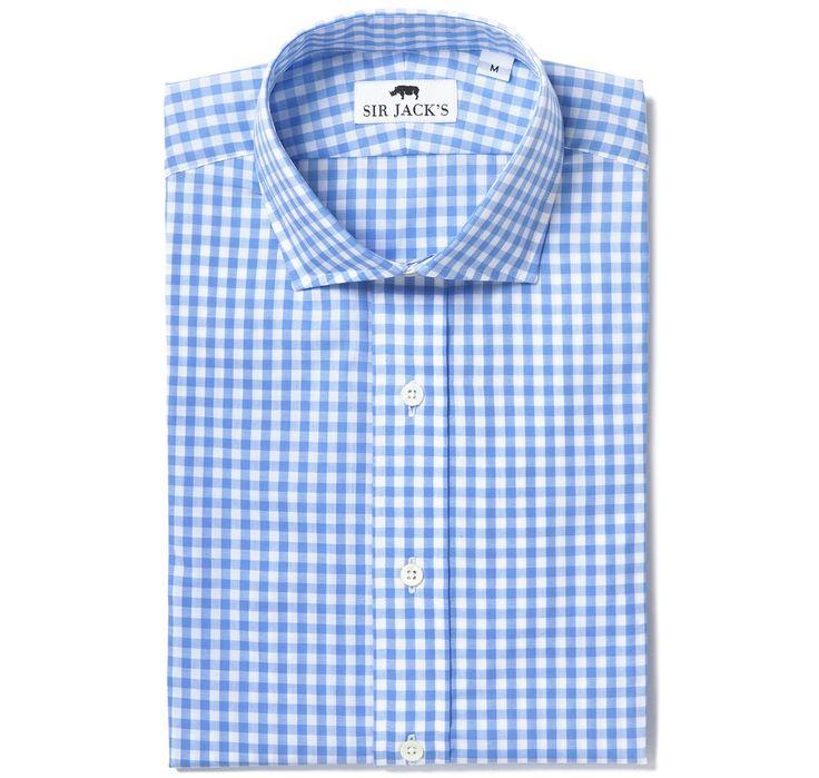 Clarendon Blue Gingham Shirt | SIR JACK'S