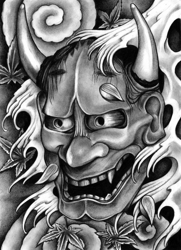 Oni Mask Tattoo Designs | tattoos out there that can be as bold and imposing as a well done Oni ...
