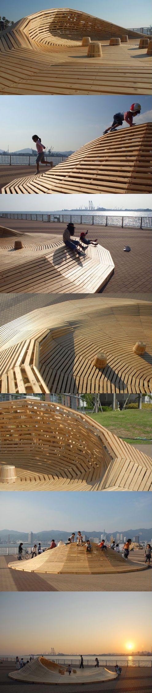 Kobe Bienalle 2011, Japan____Crater Lake, urban installation/playground