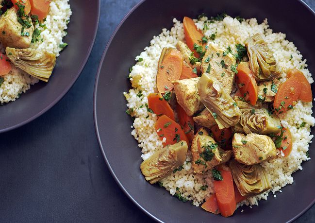Moroccan Chicken Stew with Artichoke Hearts and Carrots ...