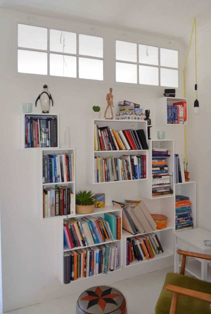 Bogopbevaring. Væg med gamle vinduer. / Bygget af Erik Modin