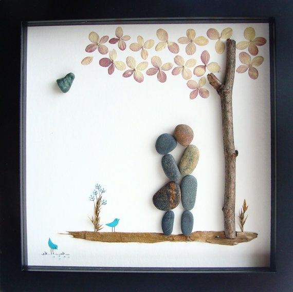 Cool Wedding Gift Ideas For Couples : ... COUPLES Gifts - Pebble Art - Love Gifts- Unique Wedding Gift Groom