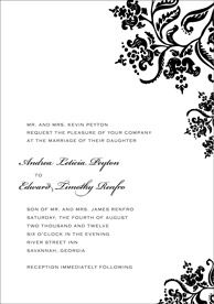 Blank Wedding Invitation Silver Heart