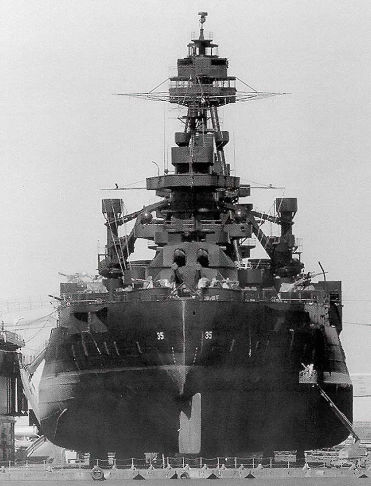 USS Texas (BB-35) in drydock