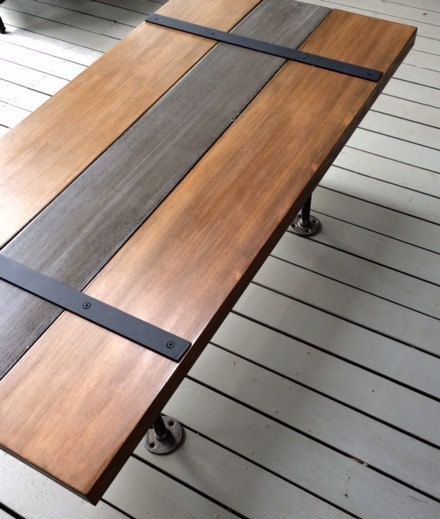 Just finished this hot new item! Concrete, wood and metal pipe table. This one of a kind coffee table stands 16 inches high and is 42 x 20.5. The signature concrete center board has a medium grey finish, a durable waterproof sealant and is framed by two beautiful BC fir planks finished in our custom made patina wood wash finish topped with a durable waterproof varnish. All framed using 3/4 inch metal piping base. Buy it today or custom order your very own piece to your own size and colour…
