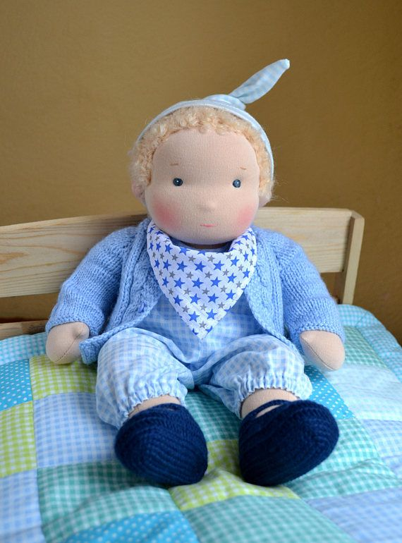 14 36 cm Waldorf Doll Baby Boy. Steiner doll-cloth