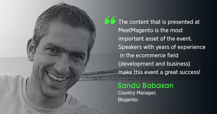 In this interview, Sandu Babasan discusses Magento development, his passion for entrepreneurship and MeetMagento Romania.