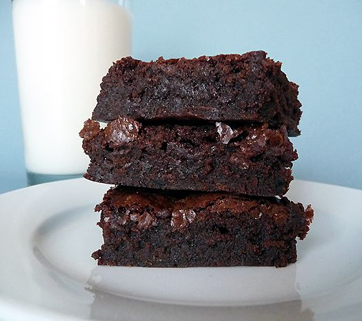 "The brownie recipe from Baked NYC. One pinner says: ""Every bit as delicious as Oprah and America's Test Kitchens claim it to be!"""