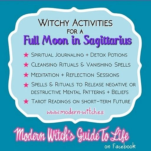 ∆ Moon Magick... ★ Best types of Magic to work on this Full Moon in Sagittarius ★