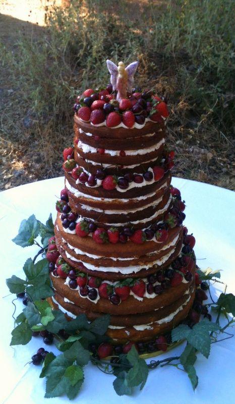 Midsummer Nights Dream themed Cake. Naked Cake - Victoria Sponge.