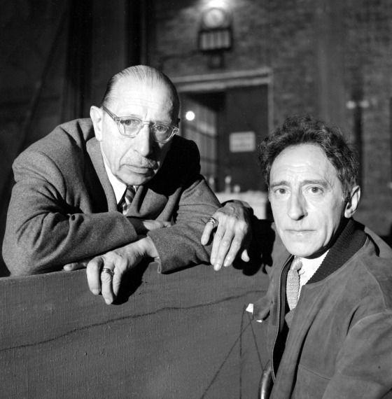 Igor Stravinsky and Jean Cocteau by Sanford Roth, 1950s
