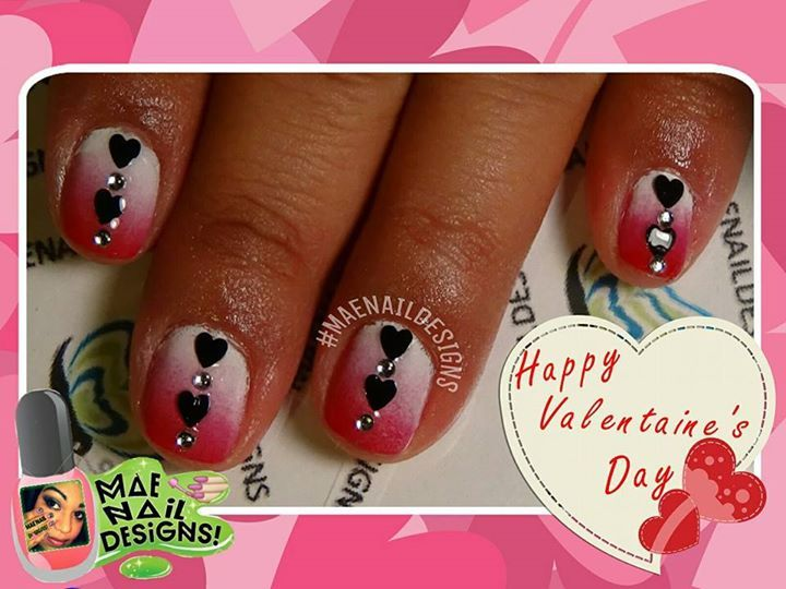 ENA18: V-Dday Ombre & Black Hearts!   Tutorial here: http://youtu.be/h91M_AT5QBo
