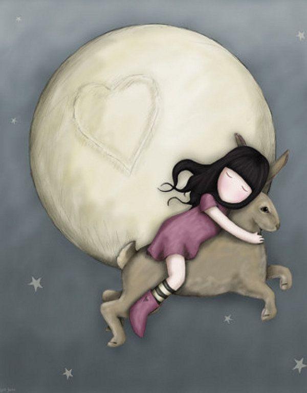 porque a veces me gusta subirme sobre un conejo gigante y volar alrededor de la luna